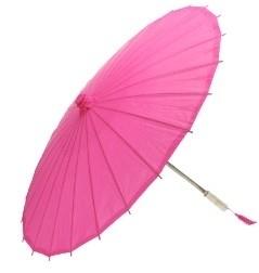 Papieren paraplu Roze