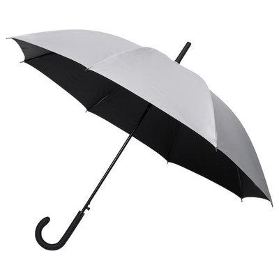 Golfparaplu met haak Zwart-Zilver
