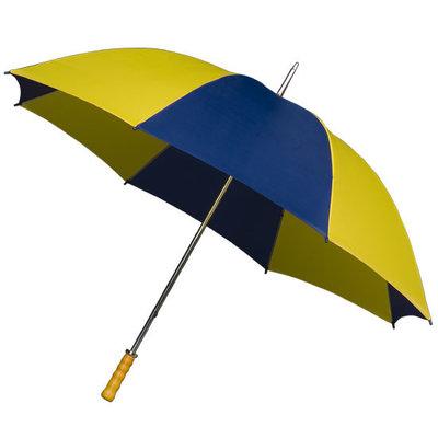 Golfparaplu XL Blauw/Geel