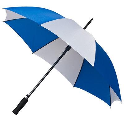 Golfparaplu Blauw - Wit