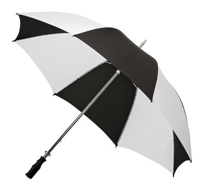Golfparaplu Zwart - Wit