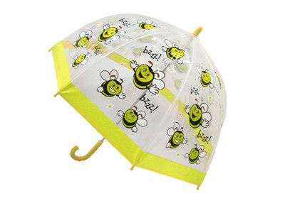 Bugzz doorzichtige kinderparaplu Bij