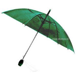 Transparante tulpparaplu - Groen