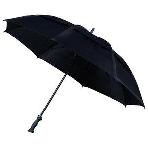 zwarte stormparaplu