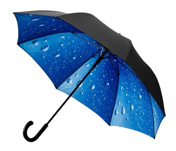 Golfparaplu met regendruppeldessin zwart