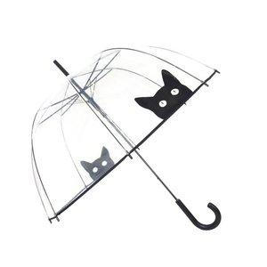 Doorzichtige paraplu kat