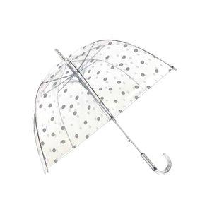 paraplu stippen zilver
