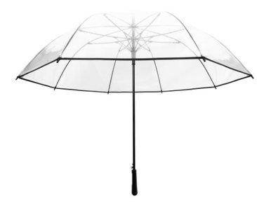 Doorzichtige paraplu met zwart randje