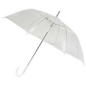 Doorzichtige paraplu (breed) - Staffelprijzen