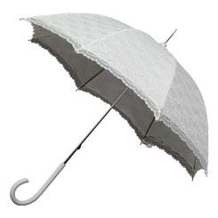 Kanten paraplu ivoor (off-white)