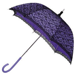 Kanten paraplu paars