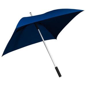 donkerblauwe vierkante paraplu