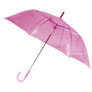 roze transparante paraplu