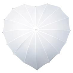 witte hartparaplu