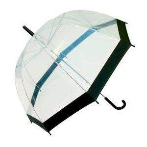 Happy Rain Doorzichtige paraplu met zwarte rand