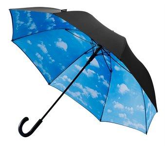 Golfparaplu met wolken zwart