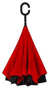 Ondersteboven paraplu Rood