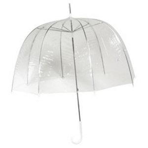 Doorzichtige paraplu met bedrukking