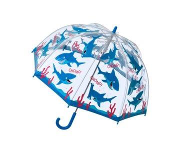Bugzz doorzichtige paraplu haai