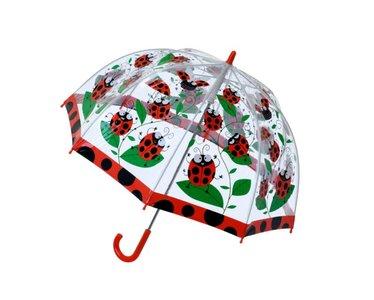 Bugzz doorzichtige paraplu lieveheersbeestje