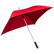 rode vierkante paraplu